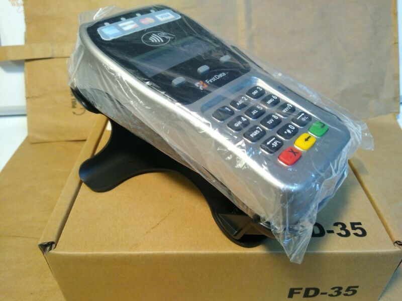 First Data FD-35 PIN Pad Terminal with Metal Stand