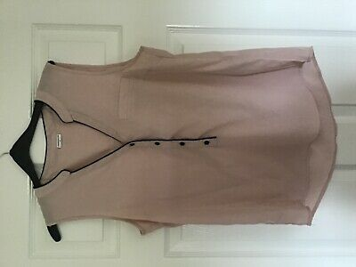 Jacqueline de Yong 10 pale dusky pink smart work top