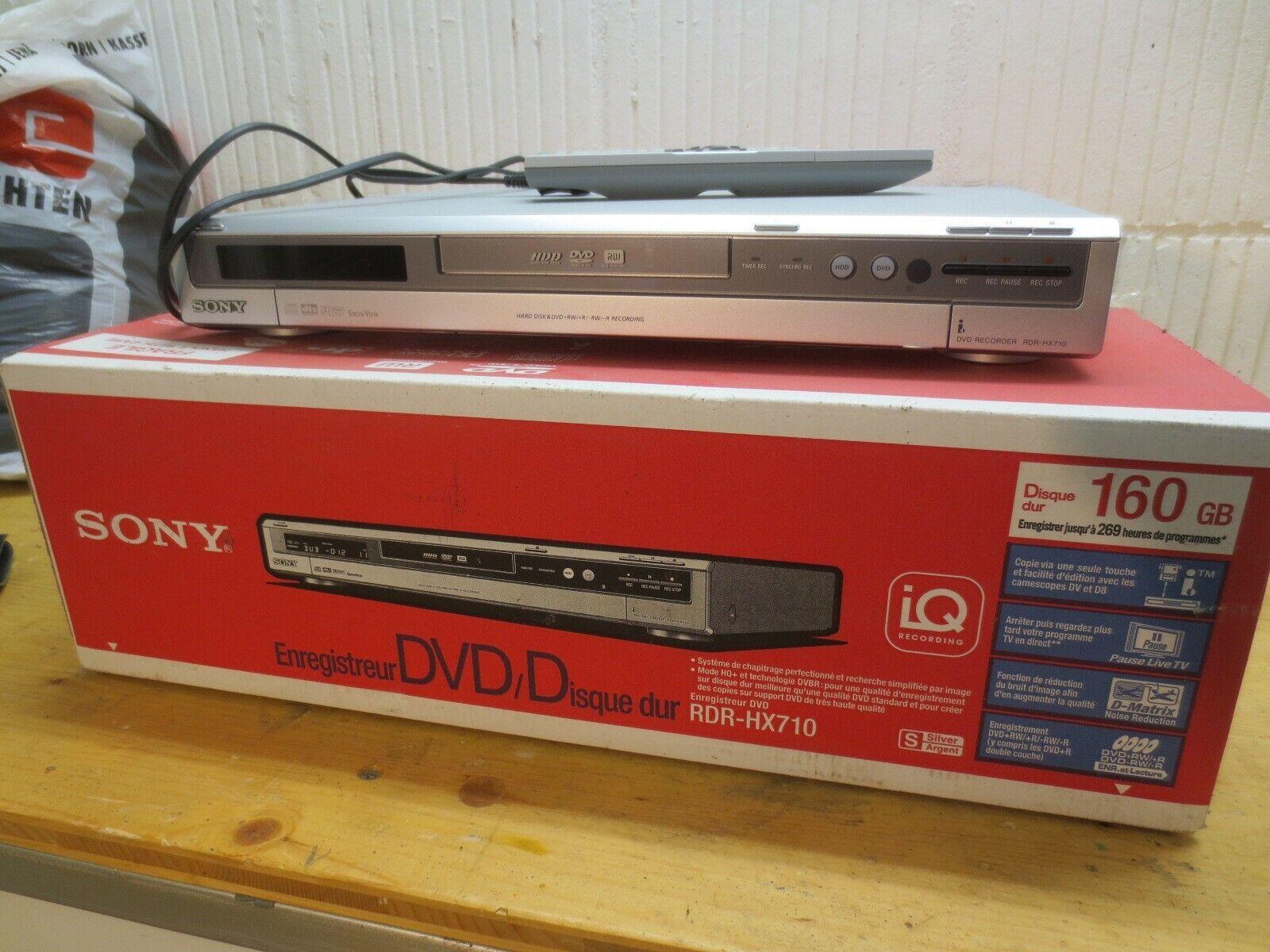 Sony RDR-HX710 DVD und Festplatten-Rekorder 160 GB  + Fernbedienung + Anleitung