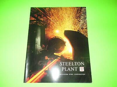 Vintage Bethlehem Steel Steelton Plant Booklet Brochure