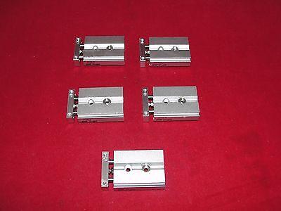 Smc Cxsjm6-10 Pneumatic Cylinder Slide Lot Of 5
