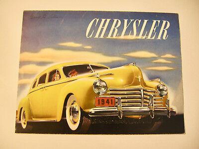 1941 Chrysler Automobile Large Advertising Folder