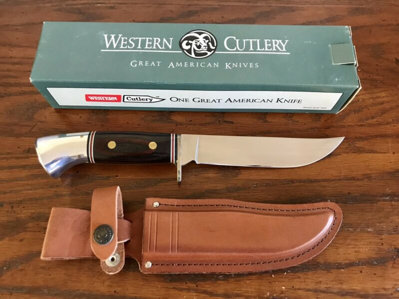 Vintage Western Cutlery Fixed Blade Sheath Knife W36
