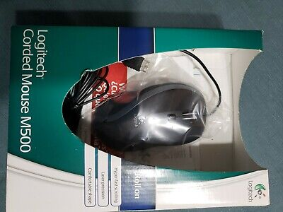 Logitech Corded Mouse M500 Roll On Computer Wired used