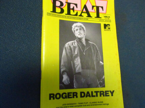 The BEAT Boston MA Rock Roll Interview Concert mag ROGER DALTRY WBCN RARE  who
