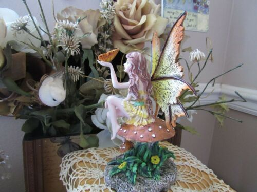 Amy Brown GOLDEN BUTTERFLY Fairy Figurine Brand New In Box! by Pacific Giftware