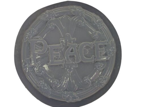 Decorative Peace Stepping Stone Plaster or Concrete Mold 1016 Moldcreations