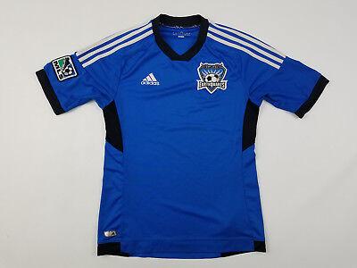 Adidas San Jose Earthquakes Soccer Jersey Men's Small MLS Soccer 2010 Away Kit image