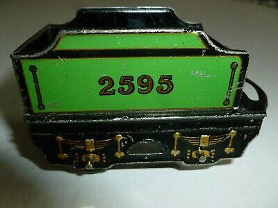 WAGON 2595 GREEN CAR TRAIN OLD VINTAGE SCALE O GAUGE TIN MECCANO HORNBY ENGLAND