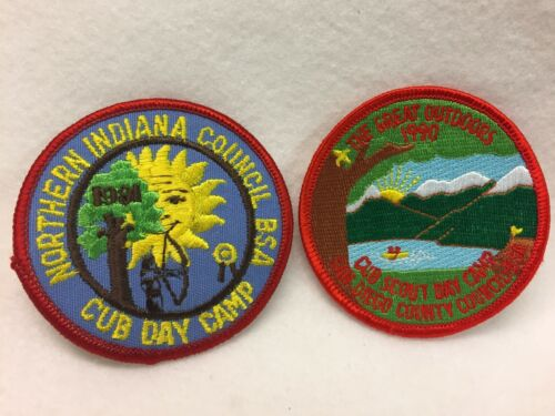 Boy Scouts -  assorted CUB CAMP  patches lot (10)
