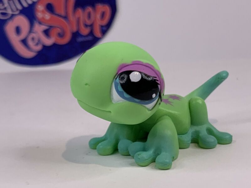 Authentic Littlest Pet Shop - Hasbro LPS - GECKO #1215