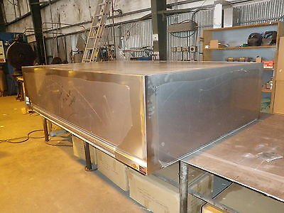 42 Inch Commercial Kitchen Dishwasher Hood System With Blower Curb New
