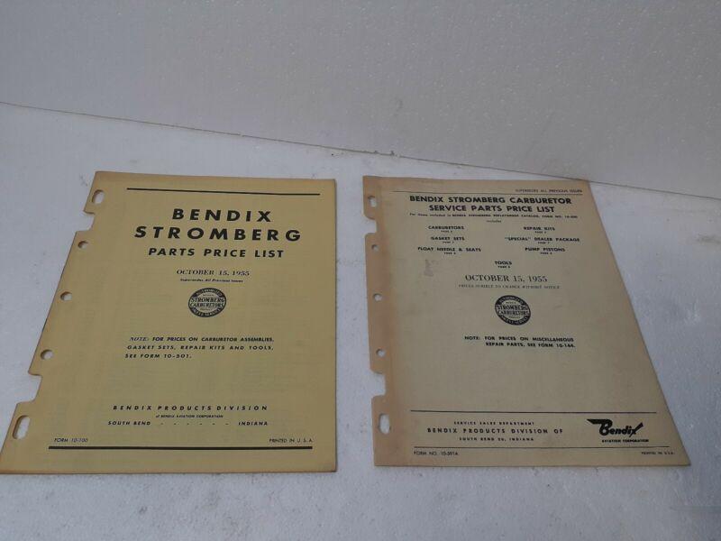 BENDIX STORMBERG PRICE LIST OCT 1955 LOT OF 2