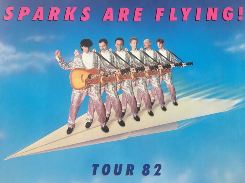 Sparks Sparks Are Flying Tour 82 Rare Promo Poster 1982