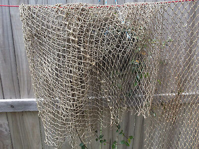 Fish Net Decor ( Authentic Used Fishing Net Varied Sizes Brown Color Coastal, Beach)