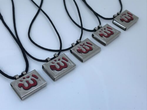 ALLAH Pendant Taweez Islamic Necklace Amulet Silver Tone Religious Pendant Lot 5