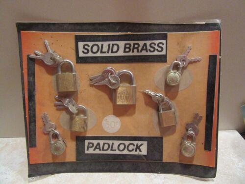 Vintage Vending Machine Product Display Locks and Keys 1970's