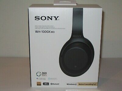 NEW Sony WH-1000XM3 Wireless Noise Cancelling Headphones in Case - Black