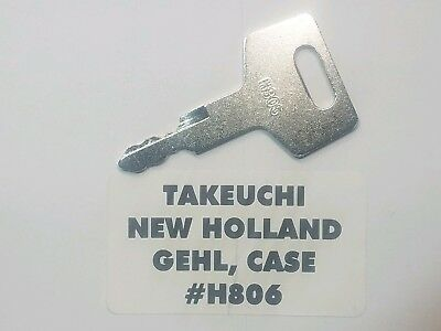 10 Takeuchi Case Gehl New Holland Heavy Equipment Keys H806 Excavator.
