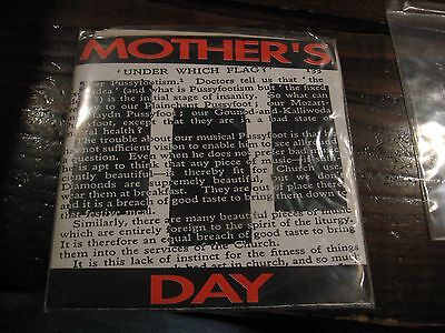Mother's Day Under Which Flag? Double Black Vinyl 7