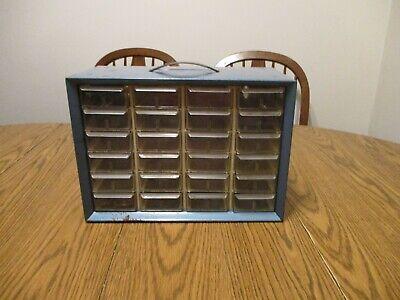 Vintage 24 Drawer Akro-mils Metal Parts Cabinet Akro Mils Organizer