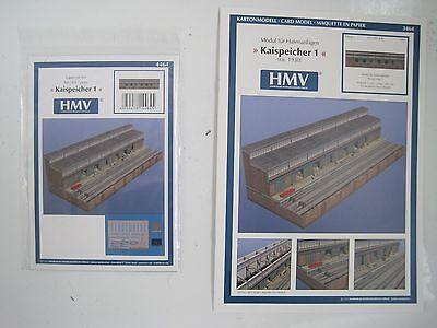 Kaispeicher f. Hafenanlage incl. Lasercutsatz Kartonbausatz NEU HMV- Bastelbogen