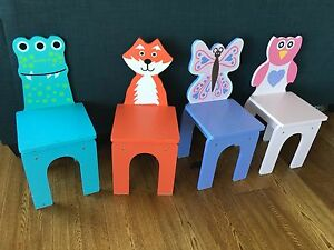 Kids chairs set of 4