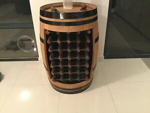Wine rack inside real wine barrel. Butler Wanneroo Area Preview