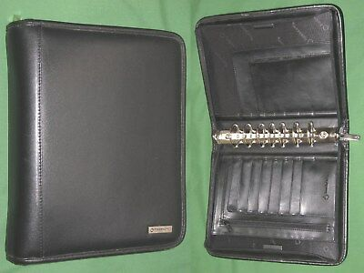 Classic 1.5 Black Leather Franklin Covey Planner Zipper Binder Organizer