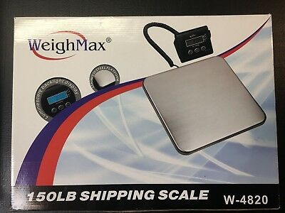 Weighmax W-4820 Industrial Postal Scale 150lb Used But Working Lbskg