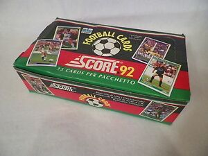 1992 Soccer Football Unopened Trading Card Pack Box Score NS42