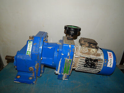 Mgm Motor With Gear Reducer Sm-71b4 380440v .37.44kw 2amp Sm71b4