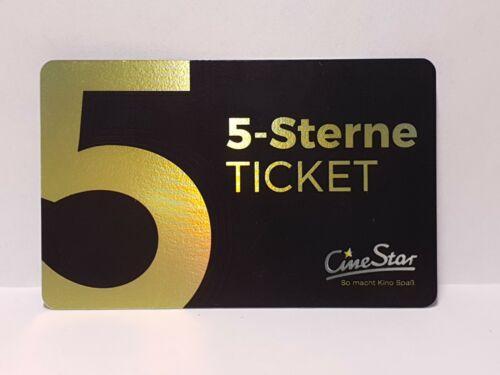 CineStar Kinogutschein 5-Sterne-Ticket (35,00 EUR)   5 Freikarten bis 20.12.