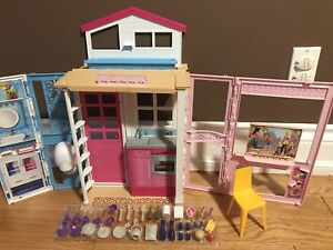 Girls barbie doll house with accessories