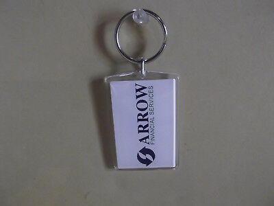Old   Unique Collectible Key Chain Resin 2 5 In Arrow Financial Services