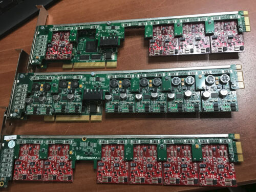 Lot Sangoma A40XX Interface Card WITH Echo Cancellation 20 ch fxo & 12 ch fxs