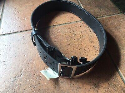 Gould /& Goodrich Lined Duty Belt Size 40 Brass Black Weave