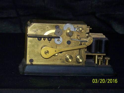 """RARE"" Antique Foote Pierson Telegraph Register/Key"