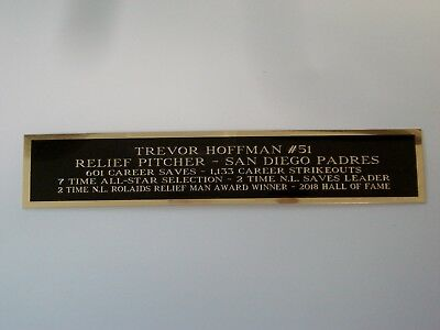 Trevor Hoffman Padres Engraved Nameplate For A Signed Baseball Jersey Case 1.5X6