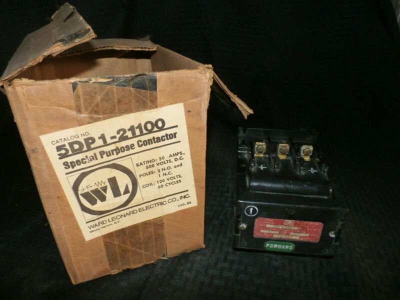 WARD LEONARD 5DP1-21100 CONTACTOR