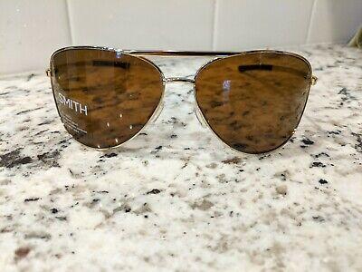NEW IN BOX Wmns Smith Optics Serpico 2 Color Pop Sunglasses Gold, NEVER (Smith Optics Serpico Sunglasses)