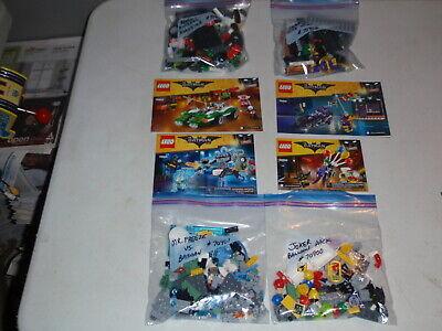 Lego Batman Movie Sets Lot 70900 70901 70902 70903 w/Instructions