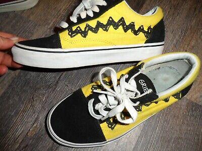 men 5 women 6.5  ~  Charlie Brown PEANUTS  old skool  VANS shoes