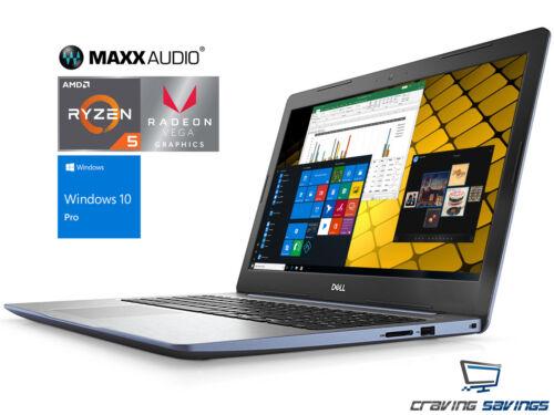 """Dell Inspiron 15.6"""" FHD Laptop, Ryzen 5 2500U, 16GB DDR4, 1TB SSD, W10P (Blue)"""
