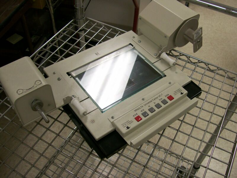 minolta universal carrier uc-7 microfilm open roll