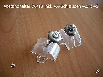 Wellplatten-Abstandhalter 76/18 inkl. Schrauben 100 Stck.