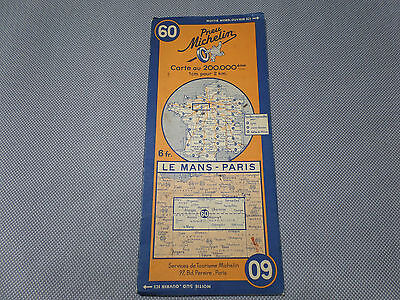 Card Michelin #60 le Mans-Paris 1938/Collector Bibendum Vintage