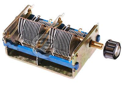 New Fm Am Quadruple Air Medium Variable Capacitor Cb-4 360x2 26x2 Pf