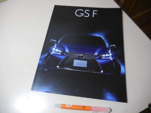 LEXUS GS F Japanese Brochure 2015/11 URL10 2UR-GSE