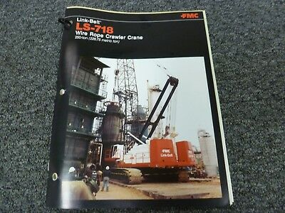 Link Belt Ls-718 Crawler Crane Specifications Lifting Capacities Manual